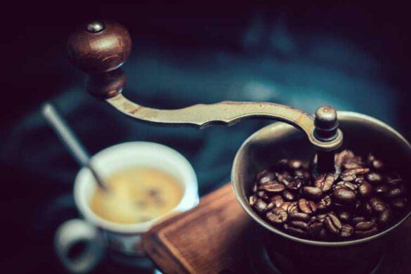 tips til atmosfære i køkkenet - En kaffekværn er populært til køkkenet