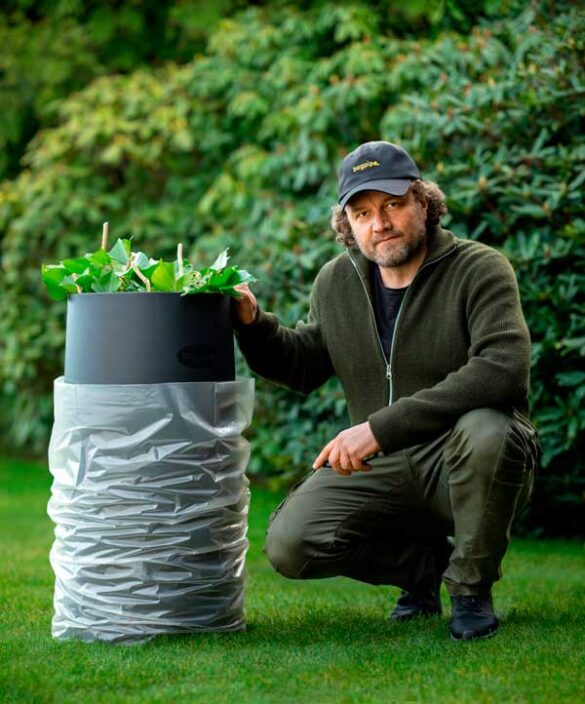 Bagpipe er et nemt redskab til at holde og fylde plastiksække