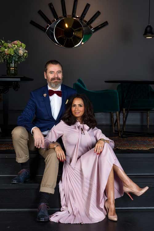 Lars Elbæk og hustru Farnaz