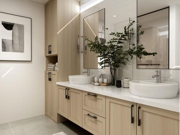Brug planter på badeværelset, det skaber en følelse af velvære. Badeværelset som grøn oase og wellness område.