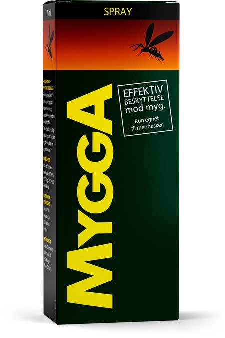 MyggA indeholder DEET der påvirker myggens lugtesans